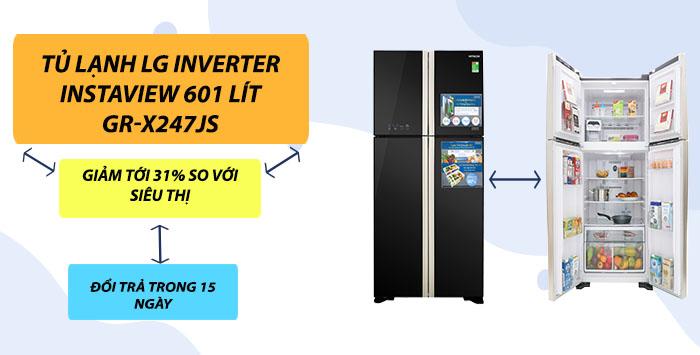 Siêu khuyến mãi Tủ lạnh LG Inverter GR-X247JS
