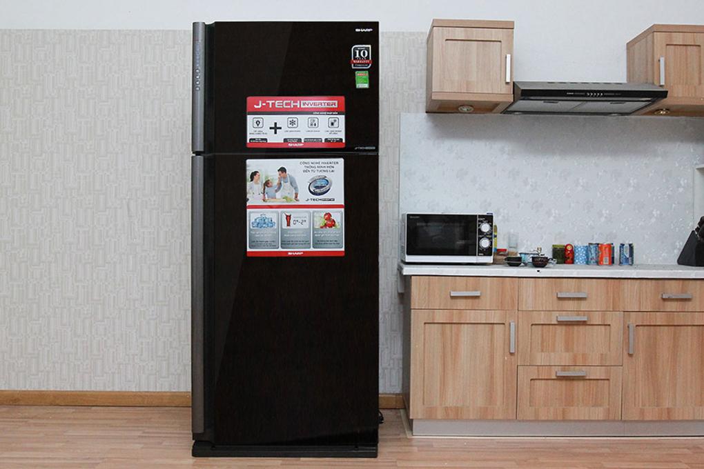 Tủ lạnh Sharp Inverter 583 lít SJ-XP630PG-BK
