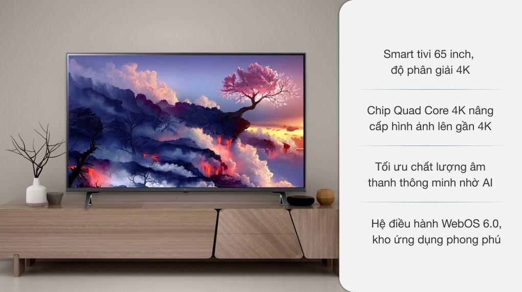 Smart Tivi LG 4K 65 inch 65UP7750PTB